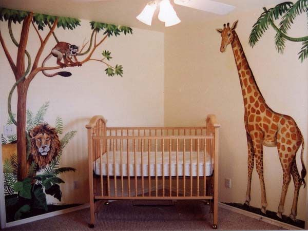 African Decorating Theme Kids Room Decorating Ideas Room - Wall decals animalsafrican savannah wall sticker decoration great trees with