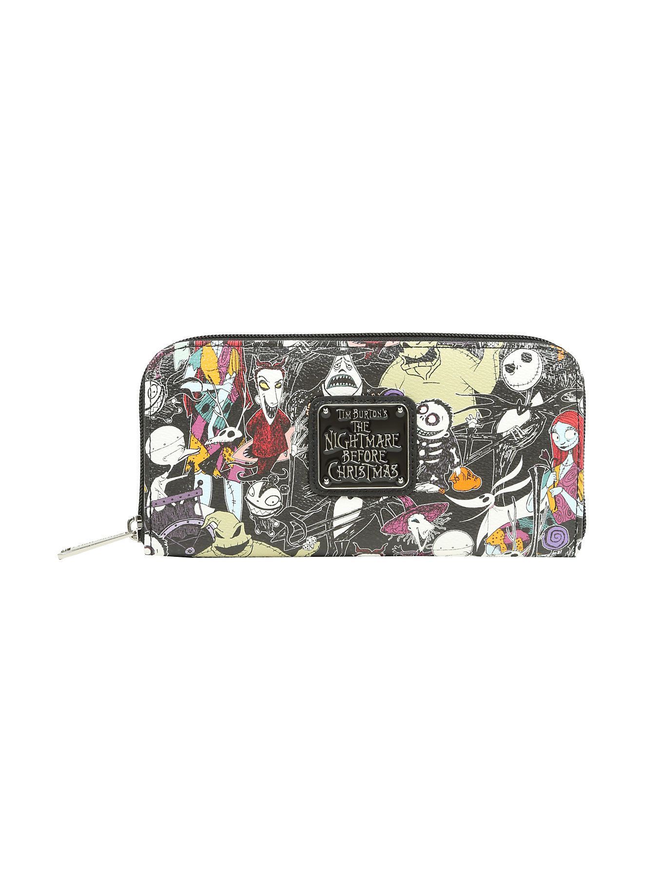 Loungefly The Nightmare Before Christmas Characters Zip Wallet in ...