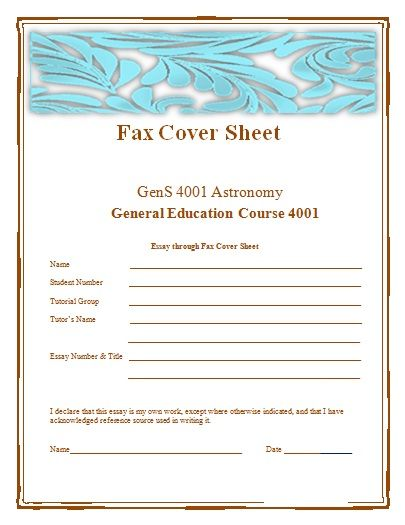 Fax Cover Sheet Templates 16+ Free Printable Word, Excel  PDF