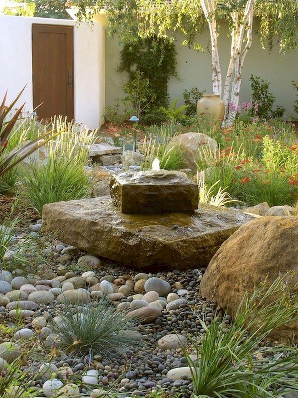 Gorgeous 75 Stunning Front Yard Rock Garden Landscaping Ideas Https Roomodeling Com 7 Rock Garden Design Rock Garden Landscaping Water Features In The Garden