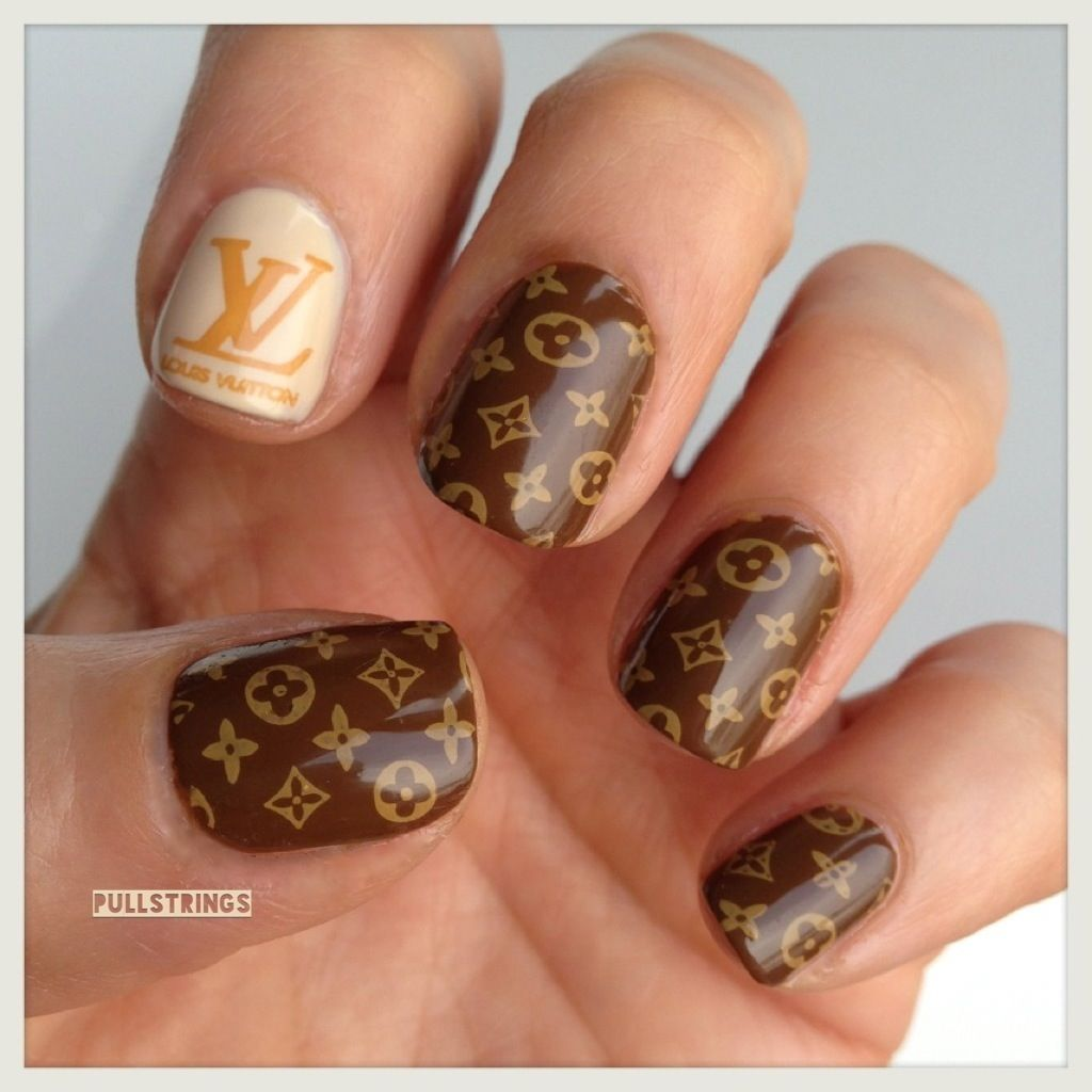 LVoe louis vuitton | Nail ideas to try | Pinterest | Hot nail ...