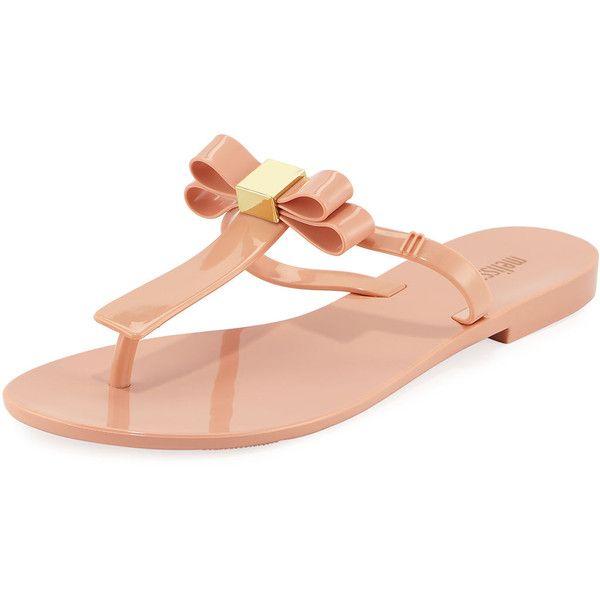 Melissa Shoes T-Bar IV Bow Flip Flop