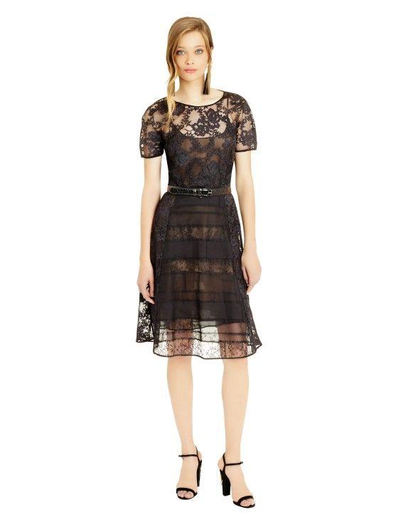 Bouquet Chantilly Lace Patchwork Dress  2fc683006