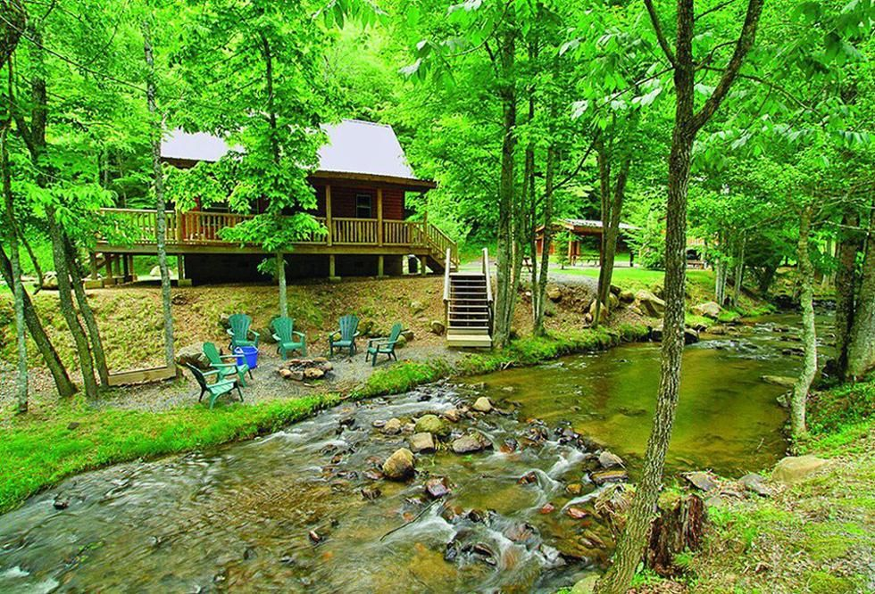 Smoky mountain cabin rentals near bryson city in western Cabin rental smokey mountains
