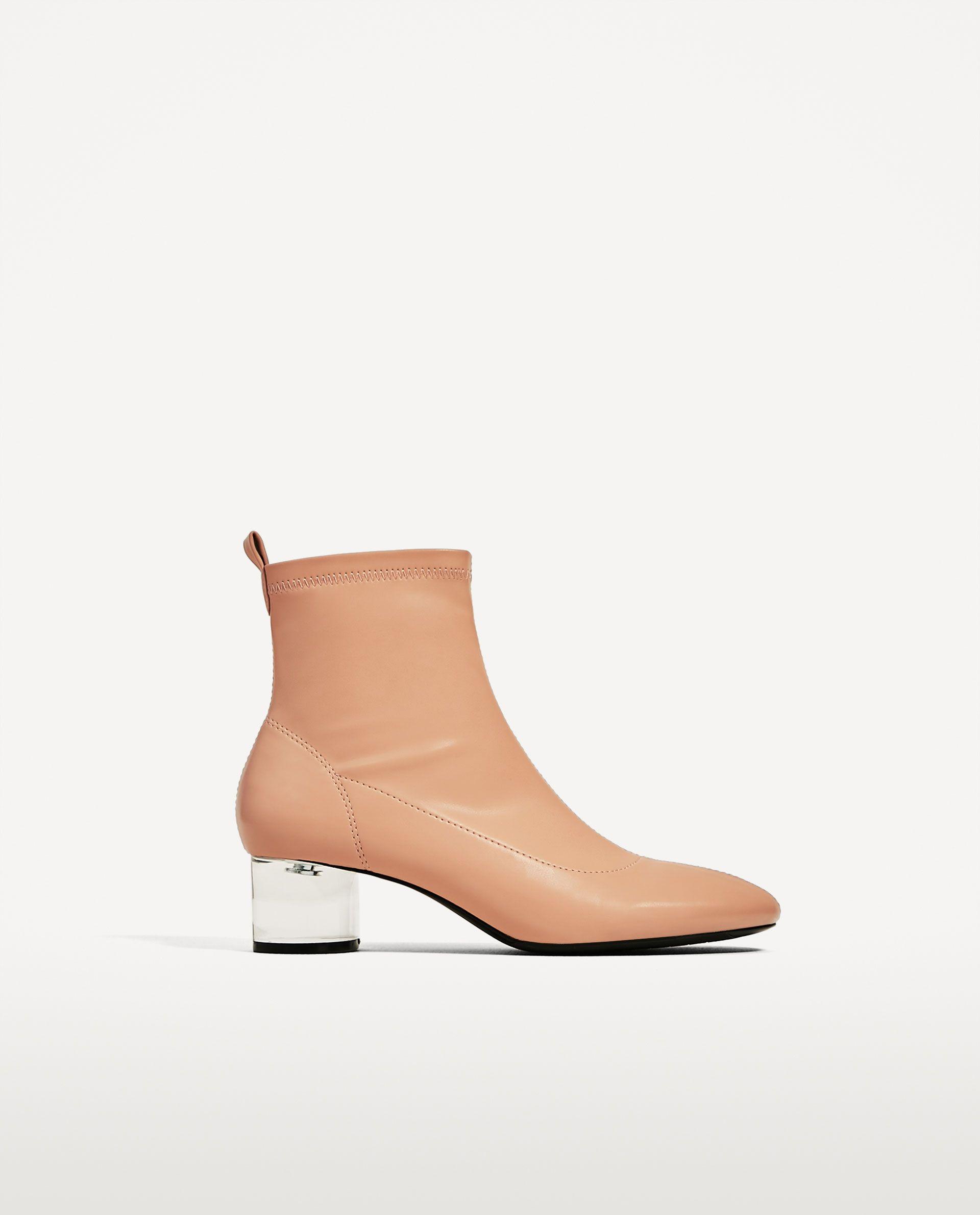 9877a74d376 zara nude transparent heel boots