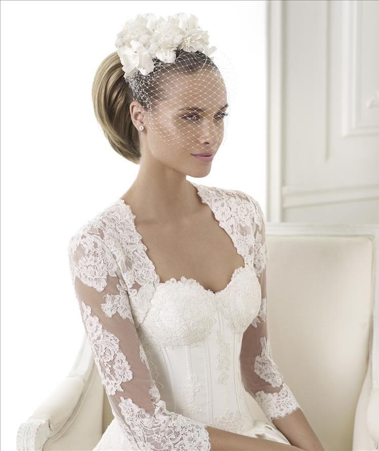 Lace Bolero And Beautiful Exposed Corset Dress