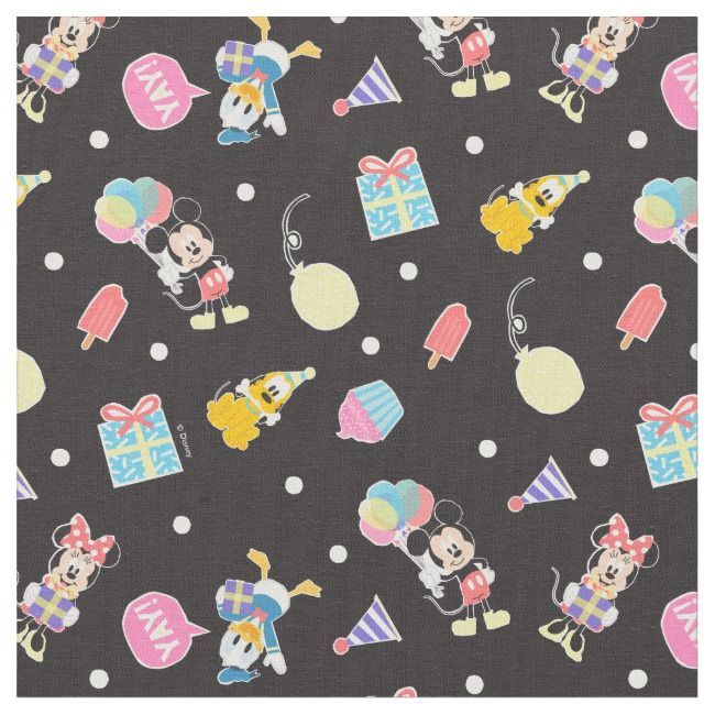 Mickey & Minnie | Time to Party Fabric