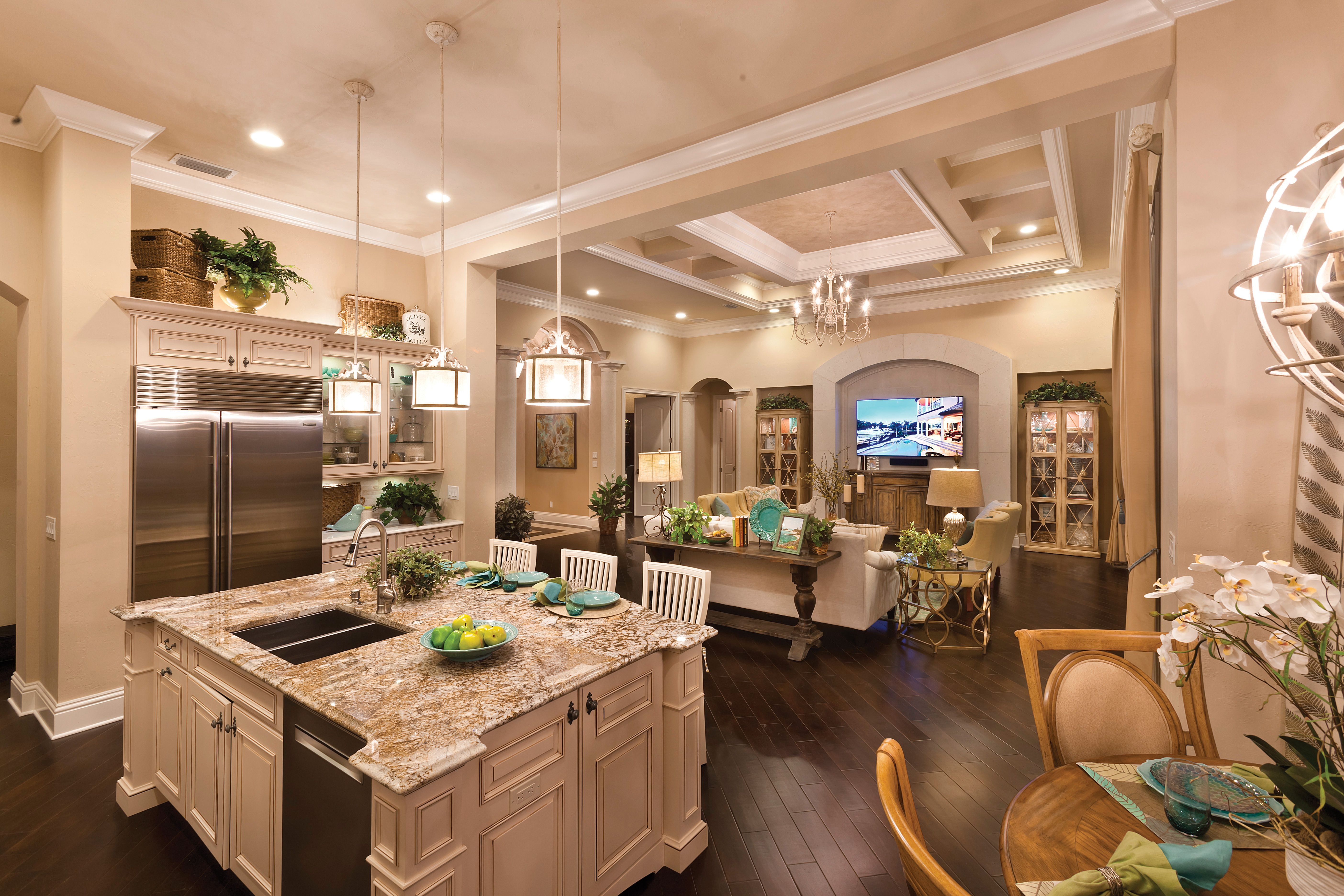 lee wetherington homes kitchen in the verona model at the