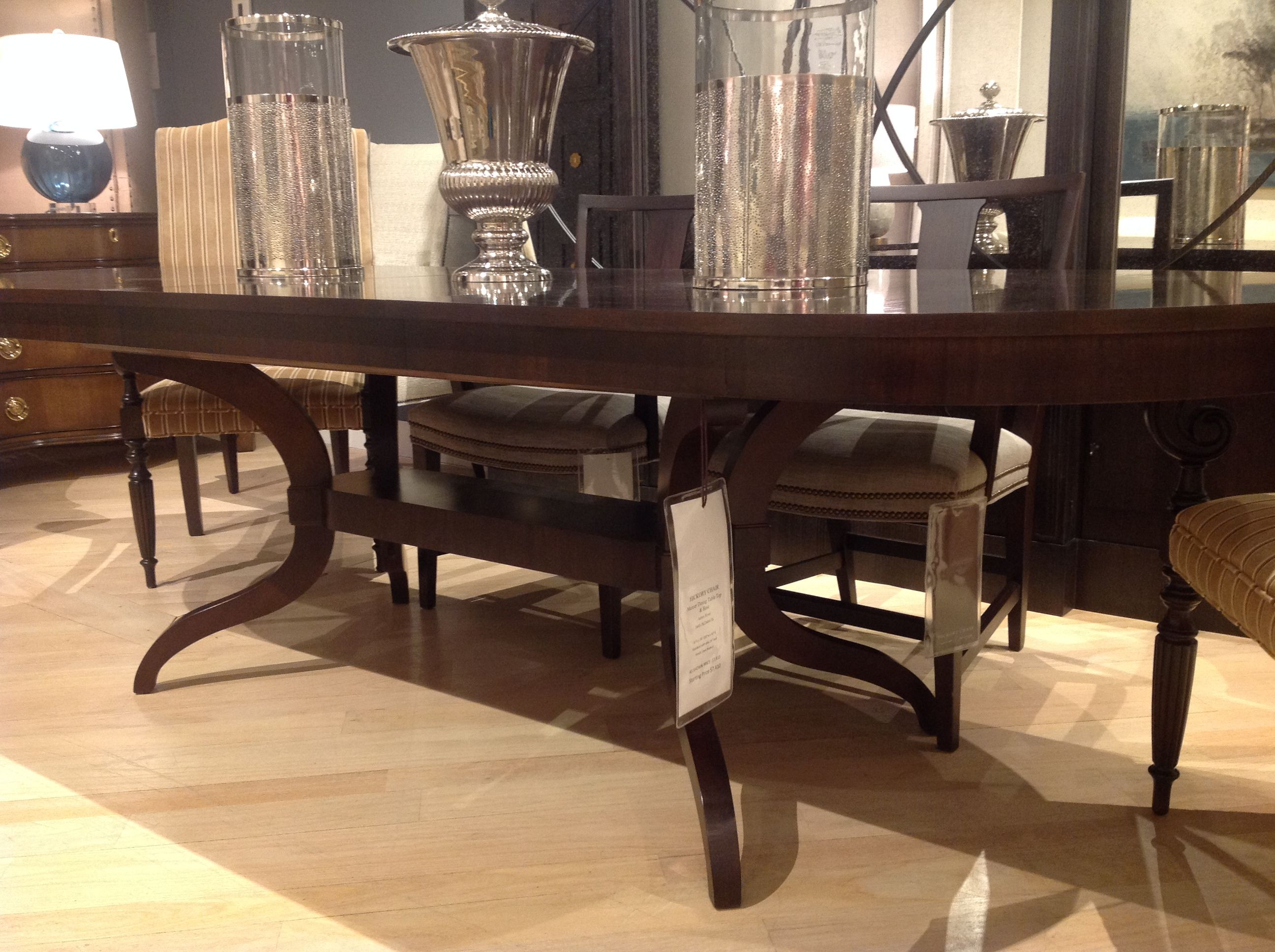 NY Showroom Hickory Chair Mercer Dining Table. Modern