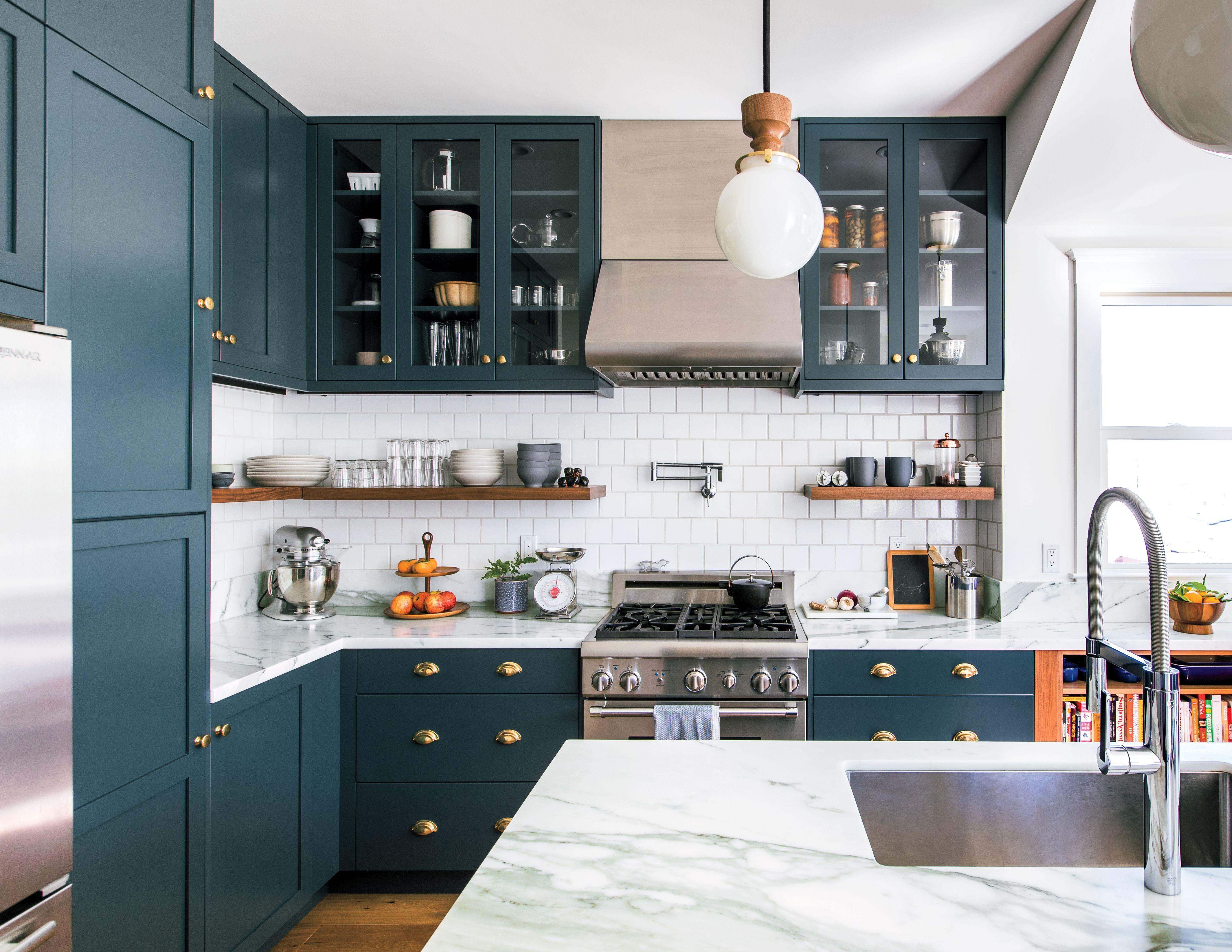Photo of Green Cabinets Make This Edwardian Kitchen Renovation Shine | Sunset
