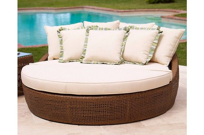 Huntington Collection Outdoor Daybed Lounger   Sunset West Outdoor Furniture