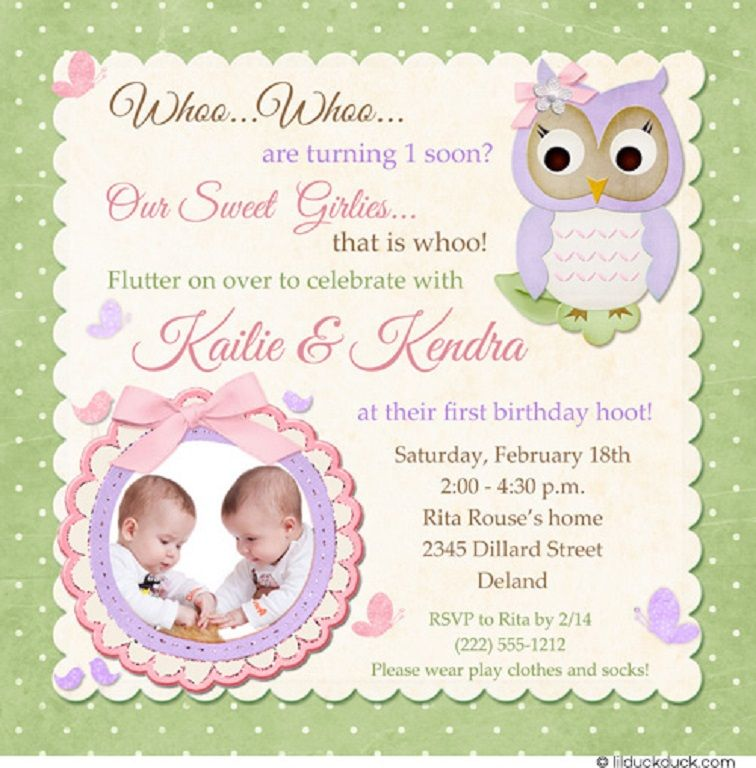 Owl First Birthday Invitations Party Invitation Card In 2019
