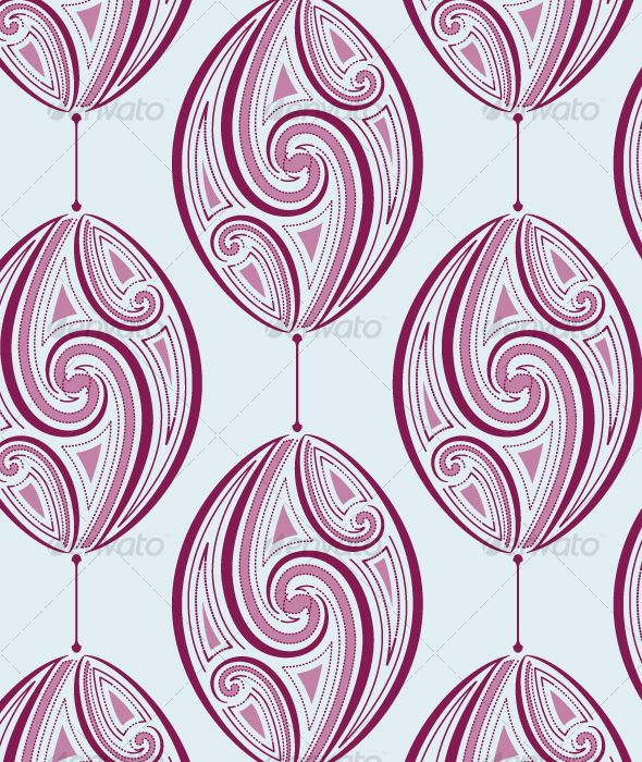 intricate baubles pattern