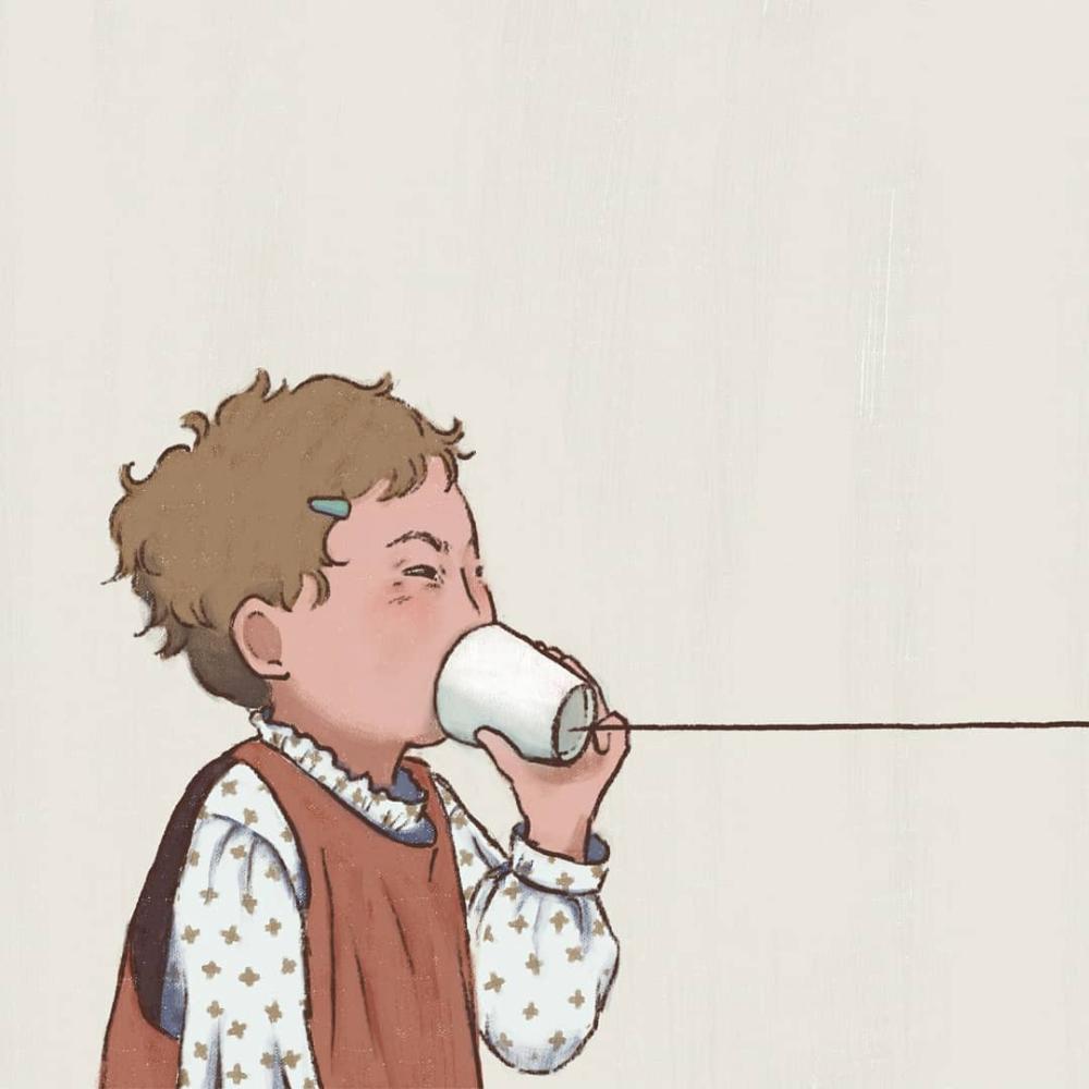 Chun Chun(@chunsleepy)• Instagram 相片與影片 Kid illustation digital drawing painting Social Distancing #