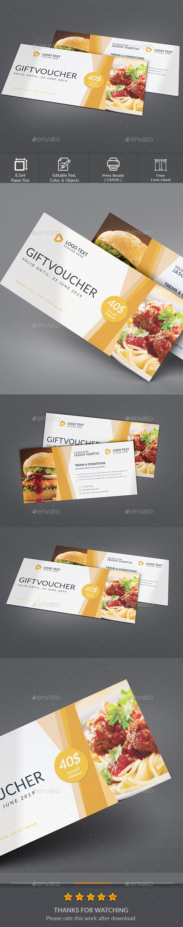 Gift Voucher Template  Gift Vouchers Print Templates And Font Logo