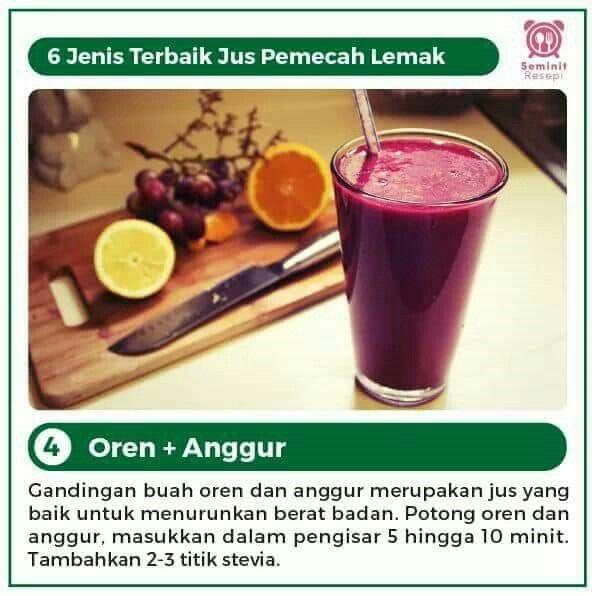 Jus Pemecah Lemak Jeruk Anggur Resep Diet Sehat Stevia Obat Alami