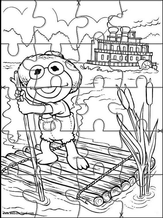 Puzzles rompecabezas recortables para imprimir Muppets 34 | Puzzles ...