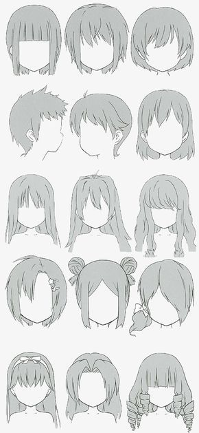 Photo of Anime front hairstyle