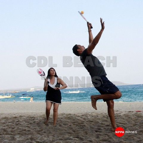 March 8, 2014 CDL Beach Tennis event. Photo by NPPA images #philippinebeachtennis #beachtennisphilippines #PHBeachTennis #itsmorefuninthephilippines #tobys #philippines #beaches #beachsport #fun #sand #summer #sun #sports #CDLbeachtennis #fady #beachtennis #olympicbeachtennis