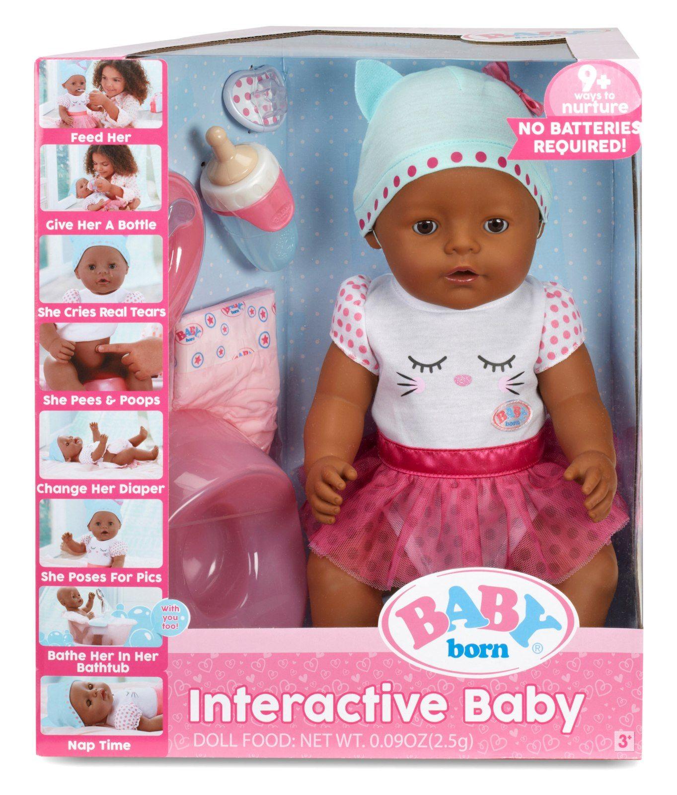 Baby Born Interactive Baby Doll Dark Brown Eyes Interactive Baby Interactive Baby Dolls Baby Born