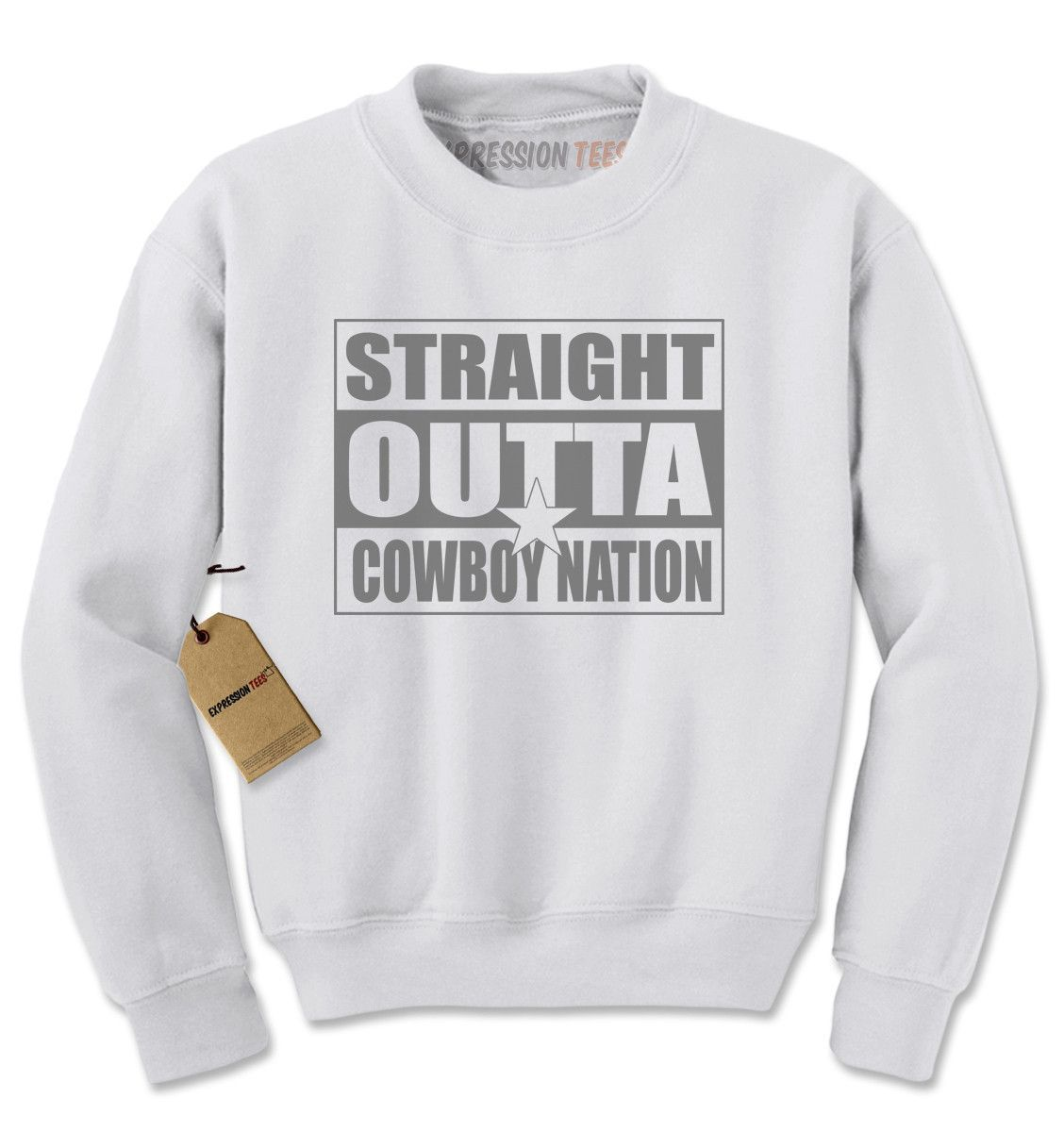 Straight Outta Cowboys Nation Football Adult Crewneck Sweatshirt