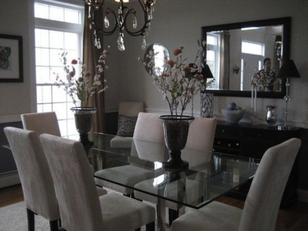 Amazing Modern Glass Dining Tables Elegant Dining Room Glass
