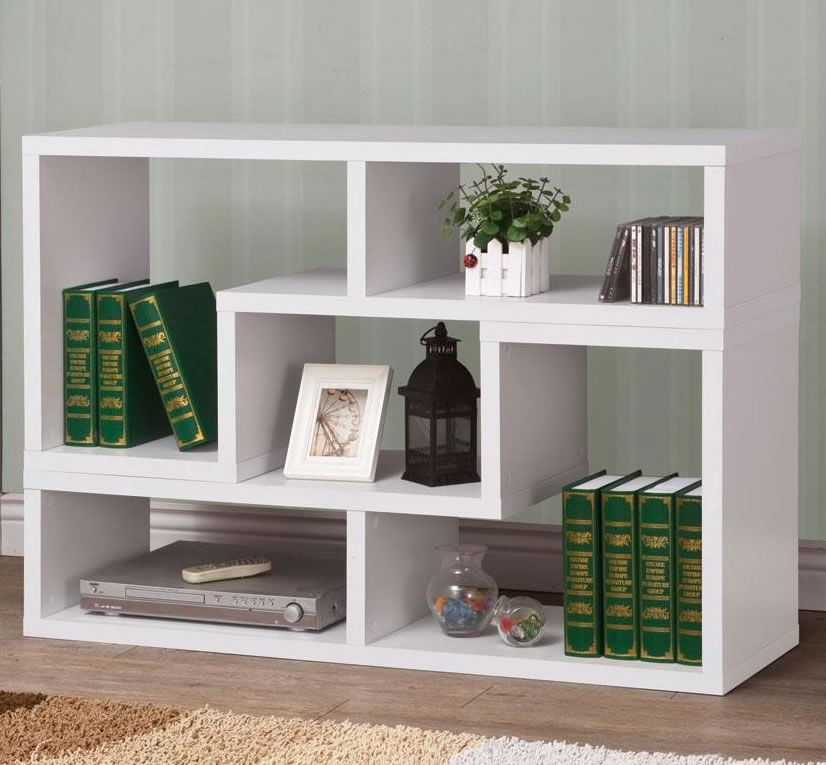 White Modern Stackable Amp Reversible Bookcase In 2019
