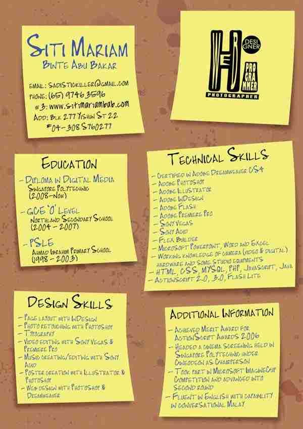 Post It Resume By Alasse  Resume
