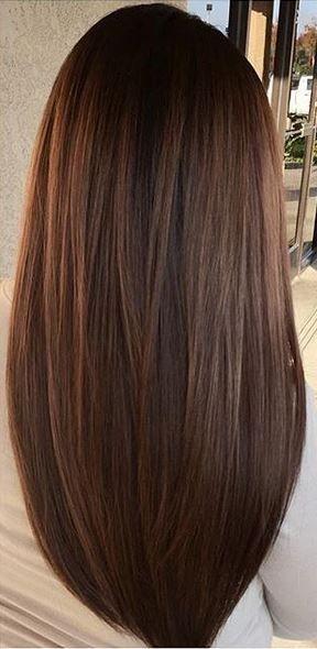 Highlight On Dark Brown Hair Hairstyle Haircut Hair Styles Long Hair Styles Hair