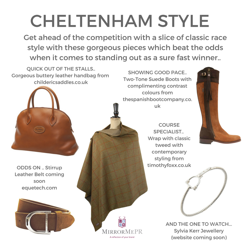 With the Cheltenham Festival This week we look at #racing #style from our clients @timothyfoxx @myspanishboots @equetech @sylviakerrjewellery #Cheltenham #races #style #racefashion