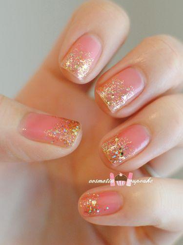 Pink Gold Nails