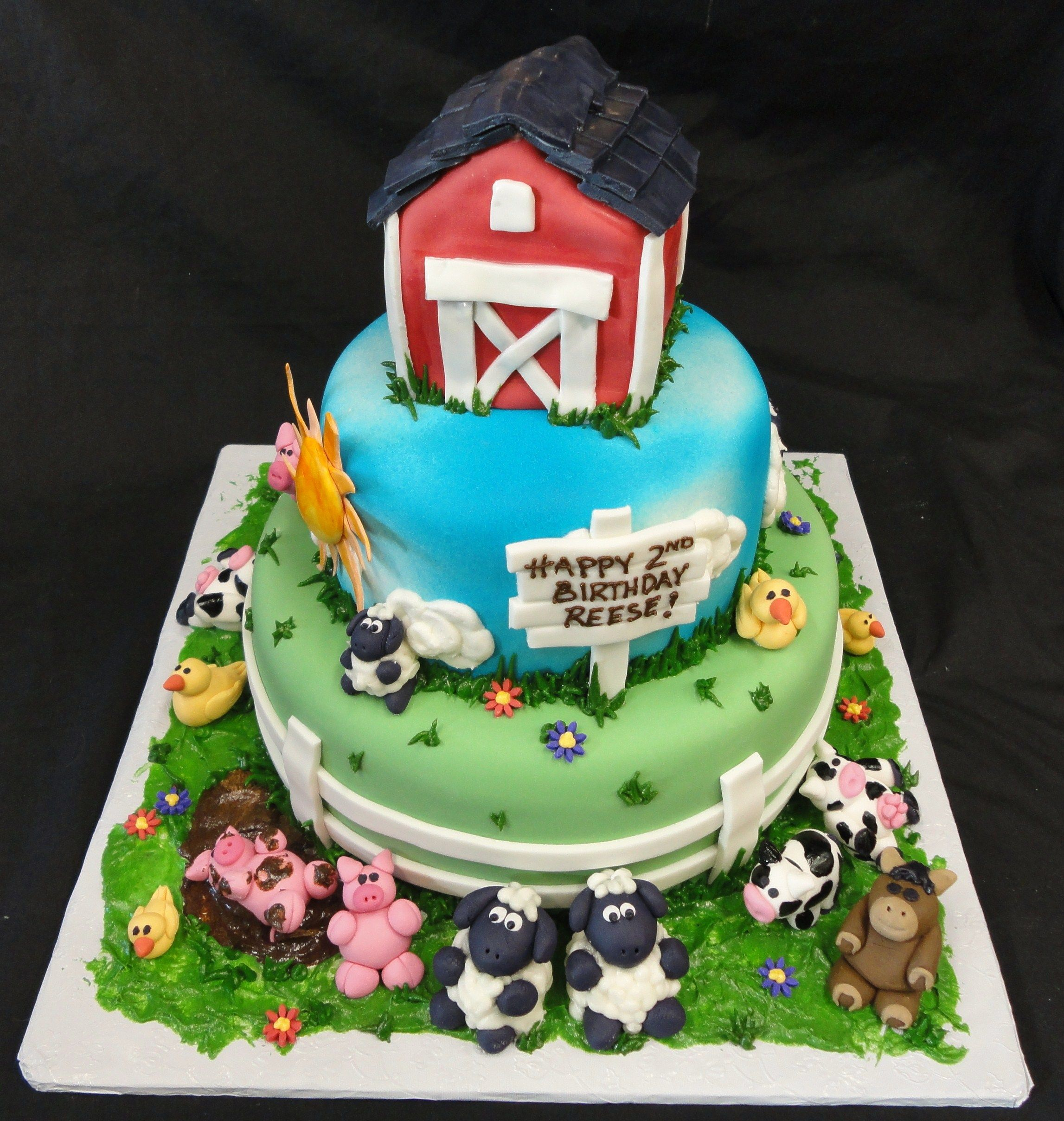Farm animals birthday cake pictures