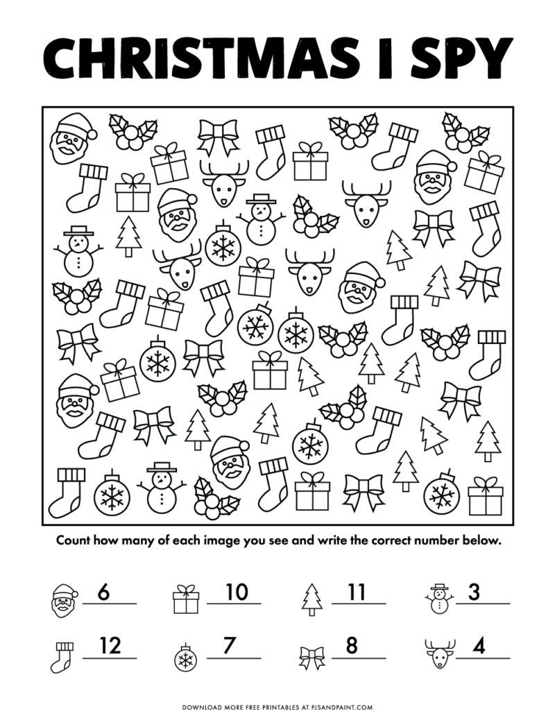 I Recently Created A Christmas I Spy Game That Had Tons Of Fun Colored Graphics After Thinking I Spy Games Free Christmas Printables Printable Christmas Games