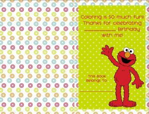 Do it yourself elmo coloring book cover elmo party ideas birthday party ideas do it yourself elmo solutioingenieria Choice Image