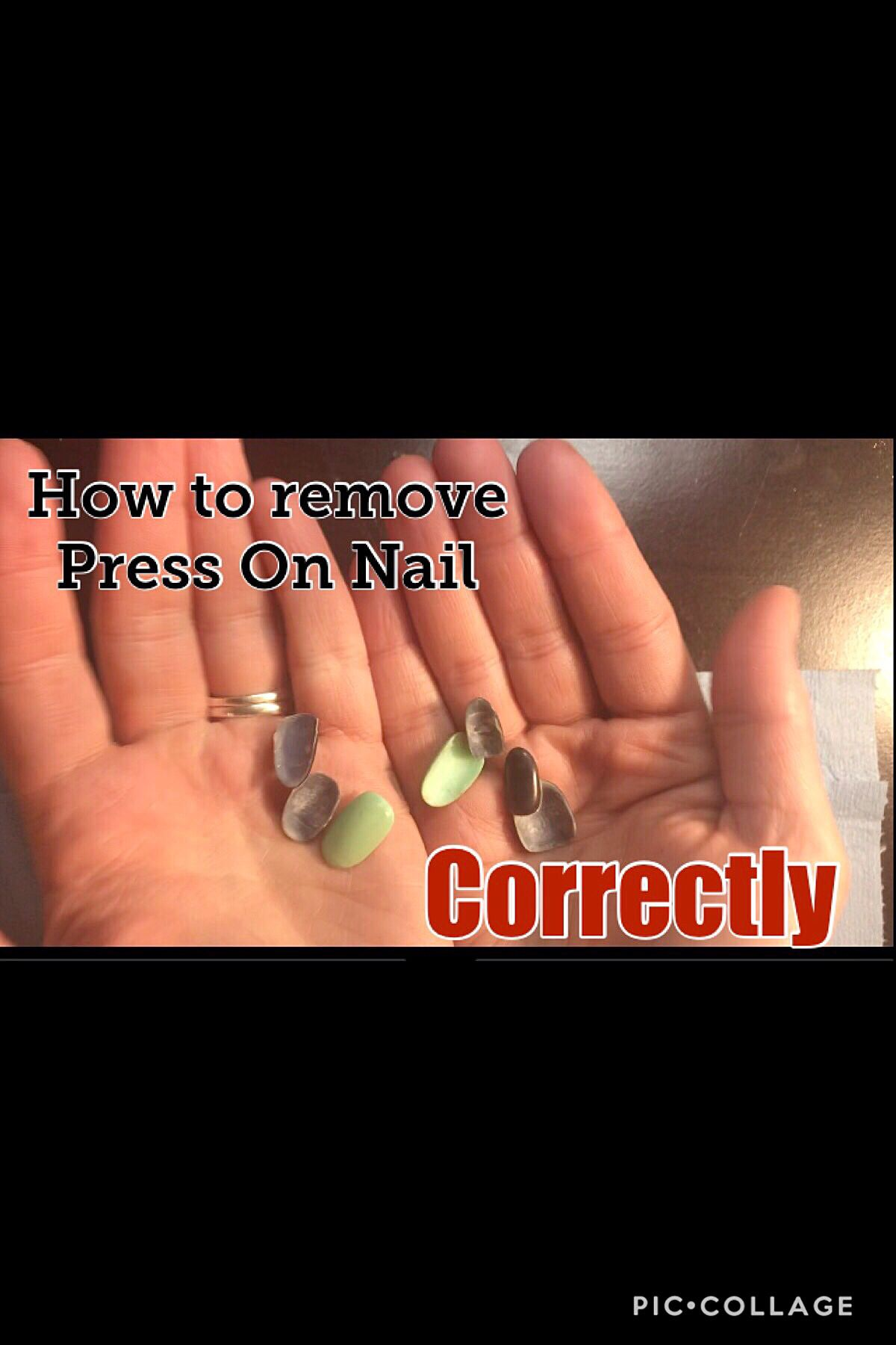 How To Remove Press On Nails The Right Way Youtube Press On Nails Nails Now Glue On Nails