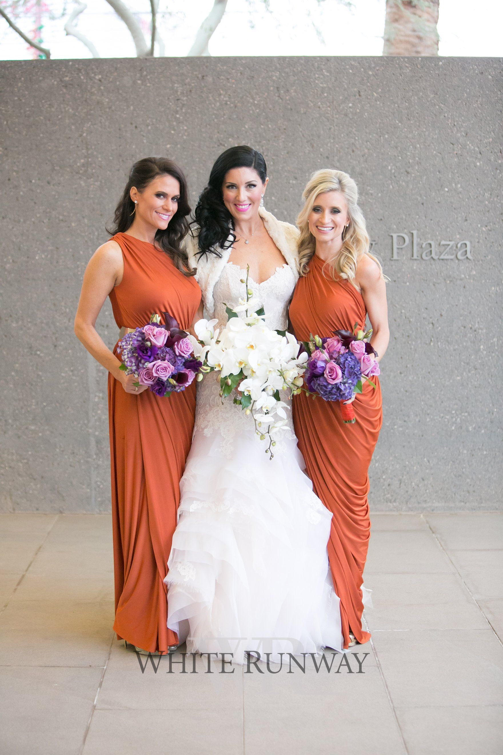 Our stunning bride leah bold all the way from usa chose the our stunning bride leah bold all the way from usa chose the ingrid dress by pia gladys perey in rust for her bridesmaids the beautiful bright bouquets ombrellifo Images