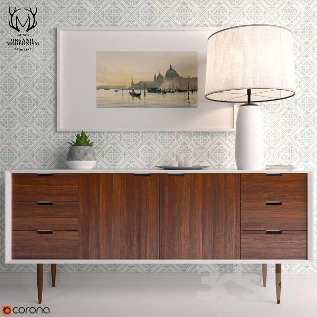 Organic Decor siena 4 cabinetorganic modernism + decor set | 3dsky shelf