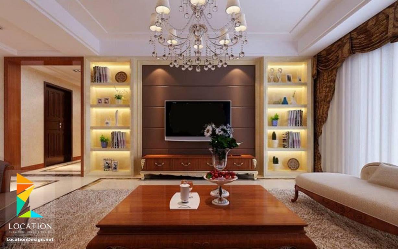 كولكشن صور ديكورات مكتبات و ارفف مودرن لشاشات البلازما 2017 2018 Living Room Tv Living Room Designs Living Room Cabinets
