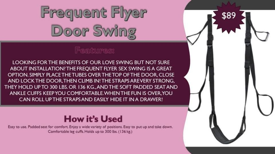 pure romance door swing