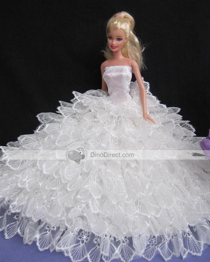 Barbie wedding dresses barbie 39 s wedding dress for How to make a barbie wedding dress