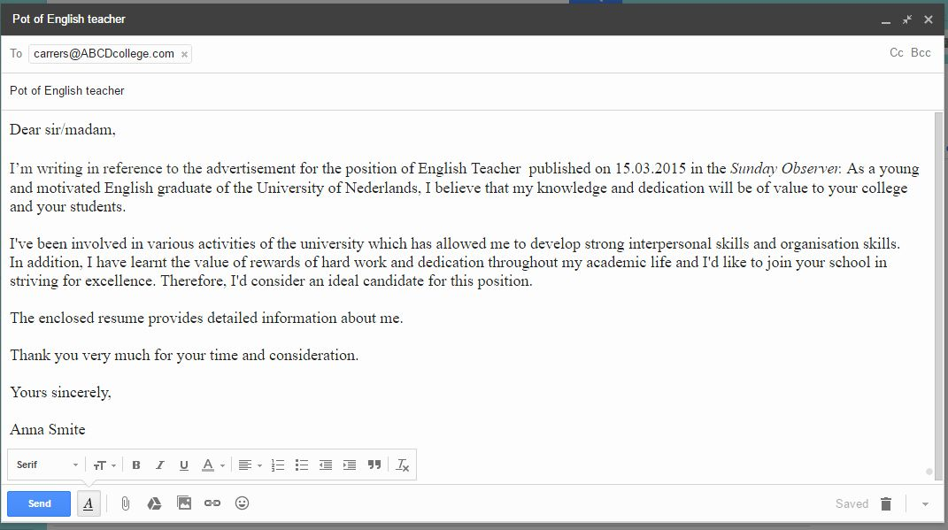 Formal e mail template new how to write a formal email in