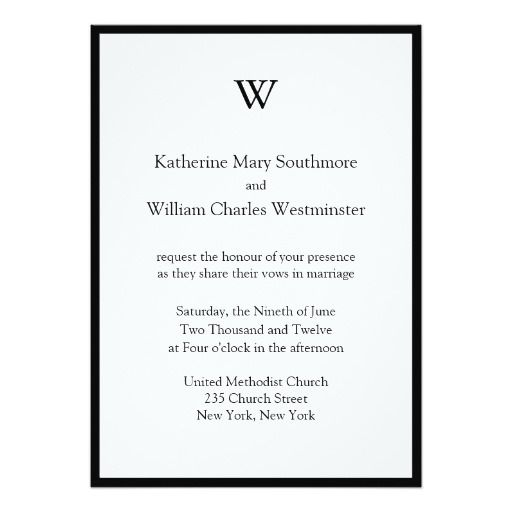 DIY Modern Wedding Invitations