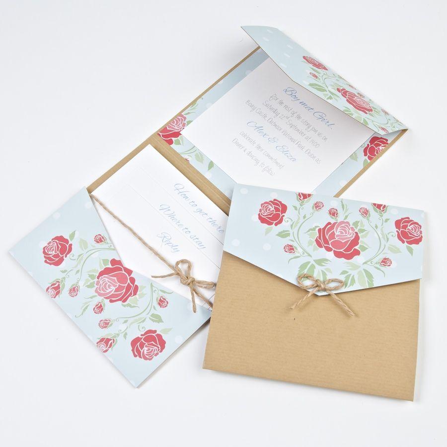 Bow Peep Pocketfold Wedding Invite DIY | Wedding Invitations ...