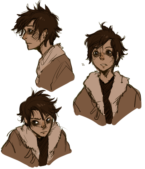 Character Design Parka : Themooncakethief some nico sketches before going to work