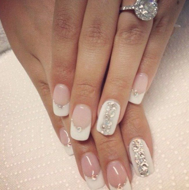Pretty Wedding Nail Designs 2017