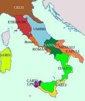 Cartina Dellitalia Nel 400.Italia 400 A C Mappa Dell Italia Impero Romano Mappa Antica
