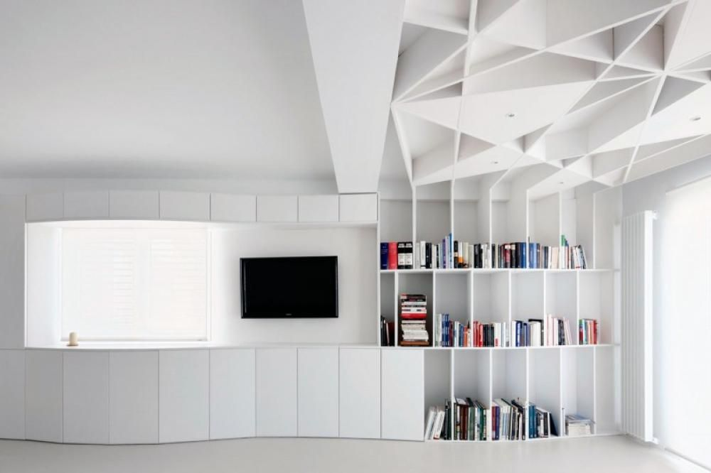 Modern Bookshelf Design modern and futuristic bookshelf design in personal home library