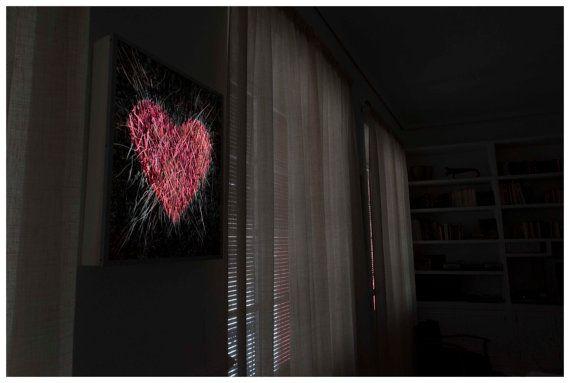 Box Light. Coração. lâmpada. decoração. by LuisCabreraCabrera