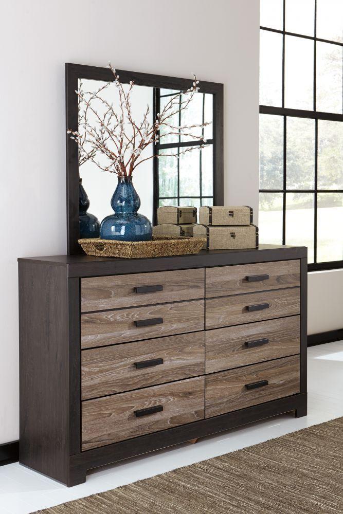 Harlinton  Pc Bedroom Dresser Mirror Queen Panel Bed