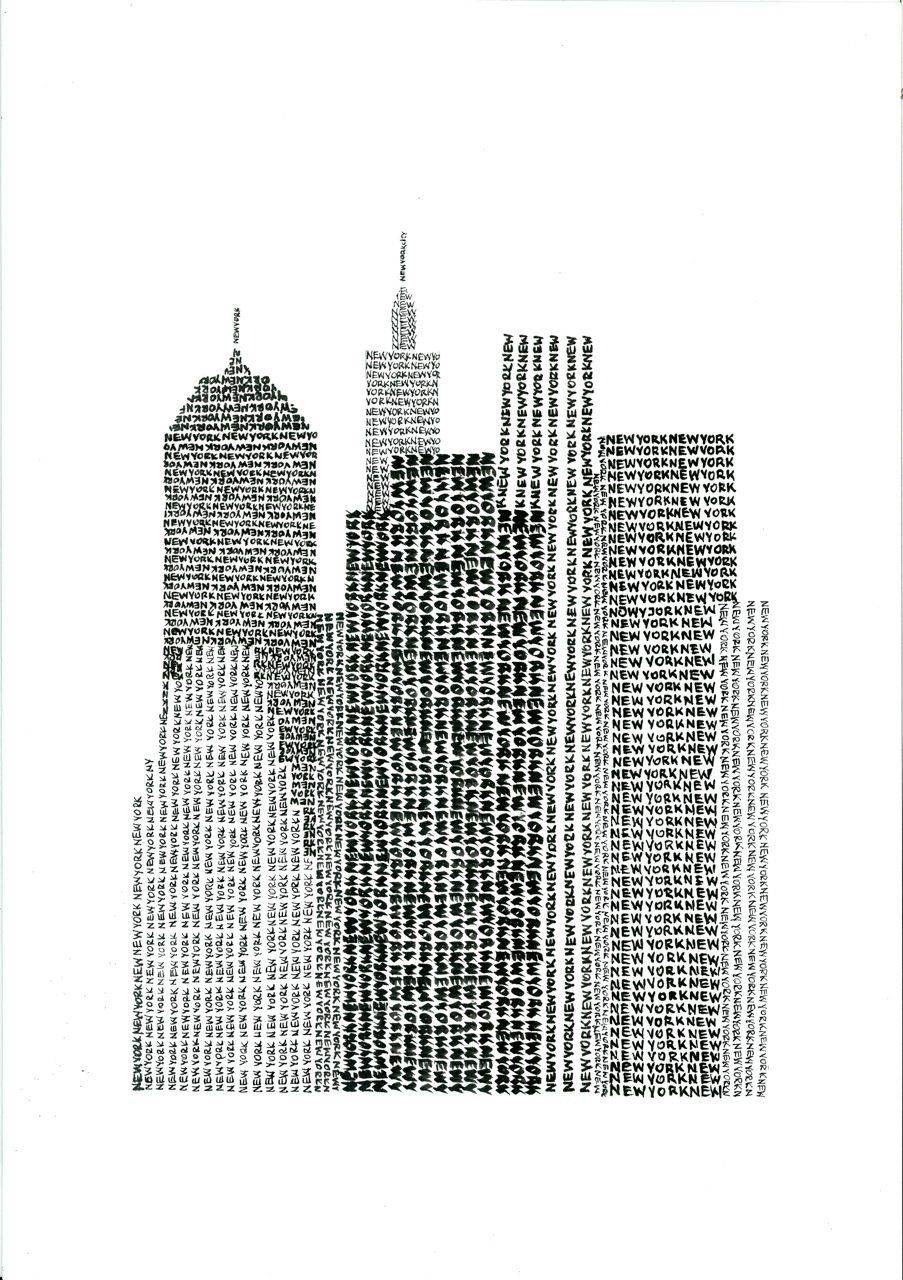 Text Art. Implied Line. // By Previous Pinner: New York